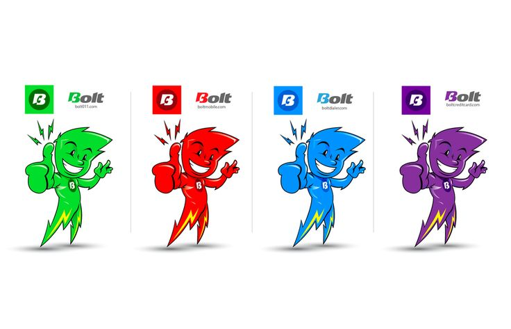 Lightening Bolt Character by frankbrox