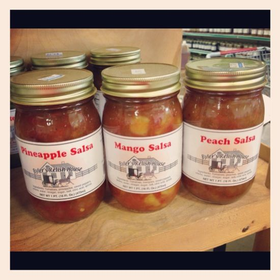 Pineapple, Mango and Peach Salsas at Butler Farm Market