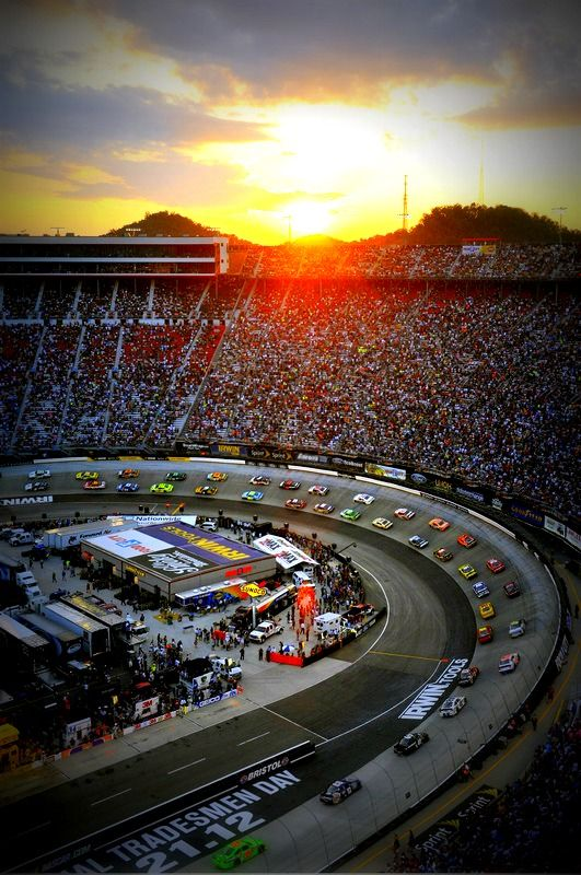 Bristol <3 WHAT A VIEW!  I rode in a Pace Car on that  track in 2012