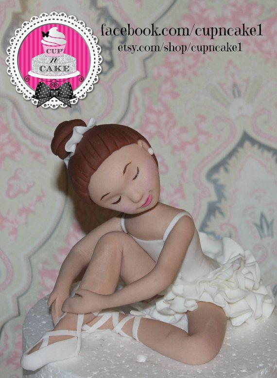 Decorazioni per torte fondente della ballerina di Cupncake1