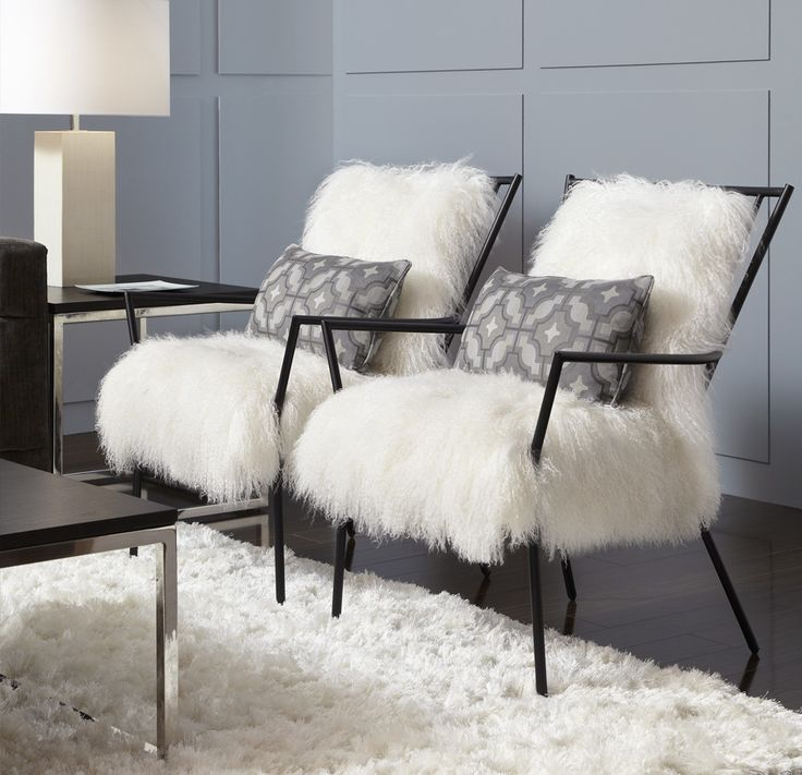 bobs living room sets%0A Ansel Chair  Black metal Windosr with Tibetan Lambswool Cushions from  Mitchell Gold   Bob Williams