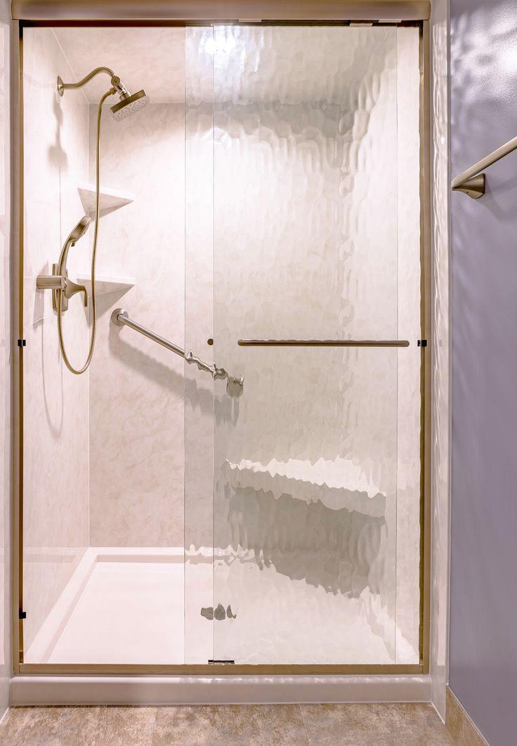 Re Bath Durabath Acrylic Walk In Shower In White Marble