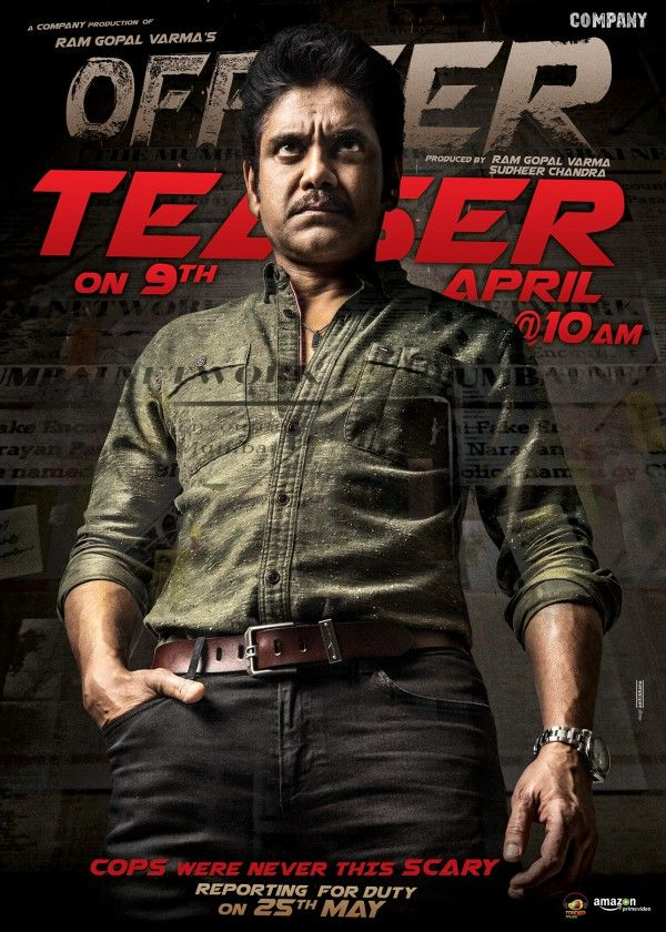 Nagarjuna And Rgv S Officer Teaser Will Be Out On April 9th