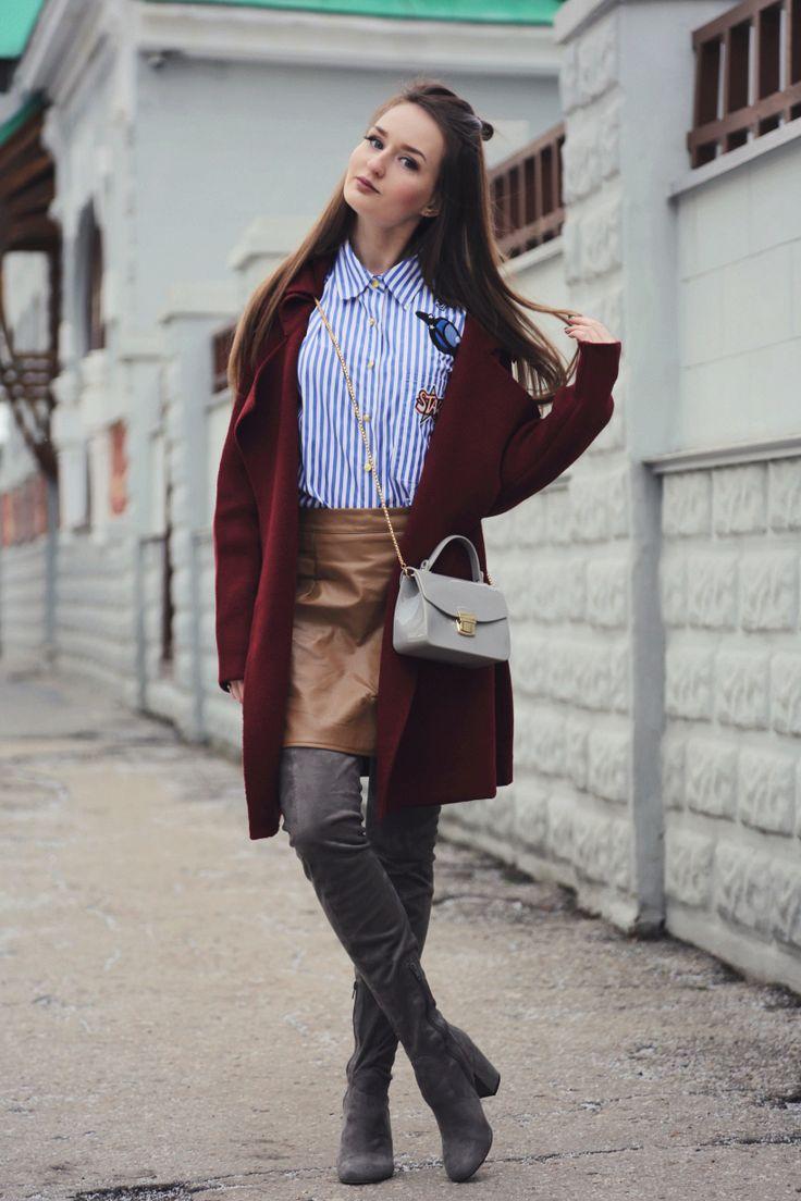 SHEIN cardigan-coat  пальто-кардиган ( here  тут  )   SHEIN shirt  рубашка ( here  тут  )   ROMWE bag  пластиковая сумочка ( here ...