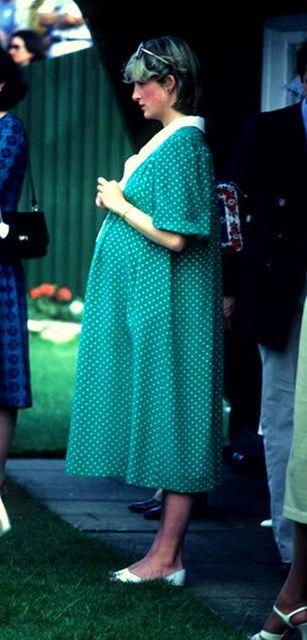 Princesa Diana ... embarazada de príncipe Guillermo: