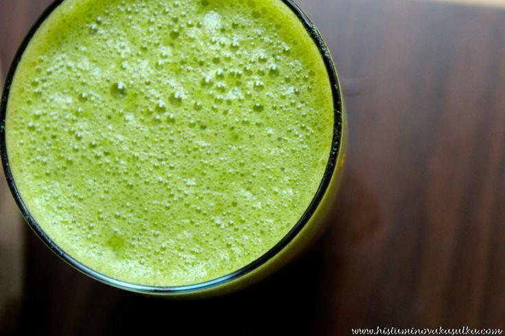 Moje zelené smoothie pro Zelený čvtrtek aneb nápoj plný zdraví