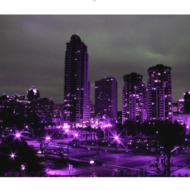 internet glasses purple city  purple