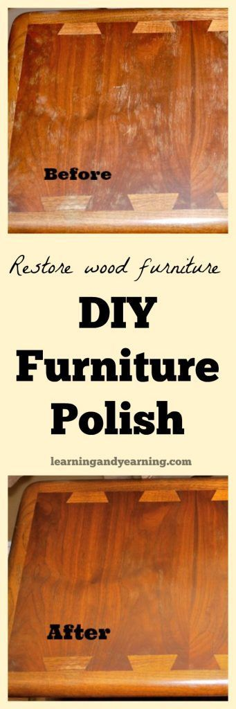 If your wood furniture is looking a bit run-down, this homemade furniture polish may be just what you need to get it looking great again. And it's so simple to make!