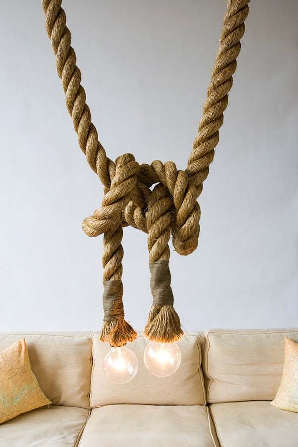 10 best Rope in lighting images on Pinterest | Cords, Chandeliers ...