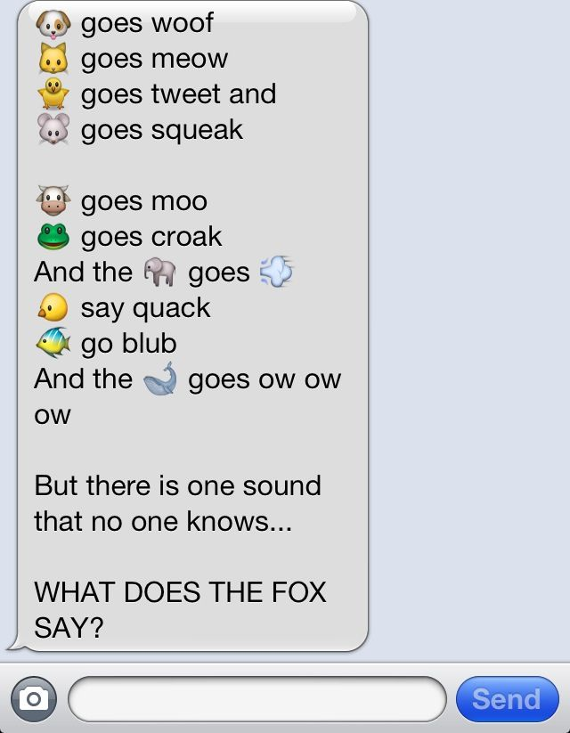 What Does The Fox Say Song Lyrics Made With Emojies