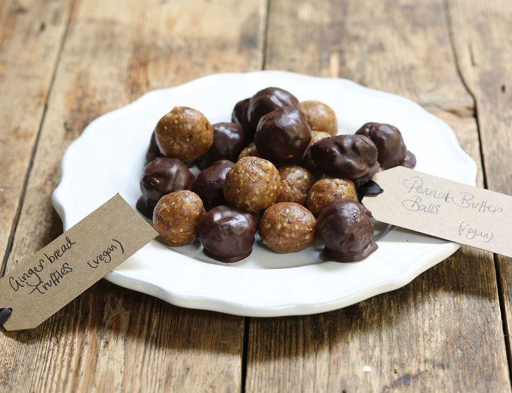Spiced Gingerbread Truffles & Peanut Butter Balls Recipe | Abel & Cole