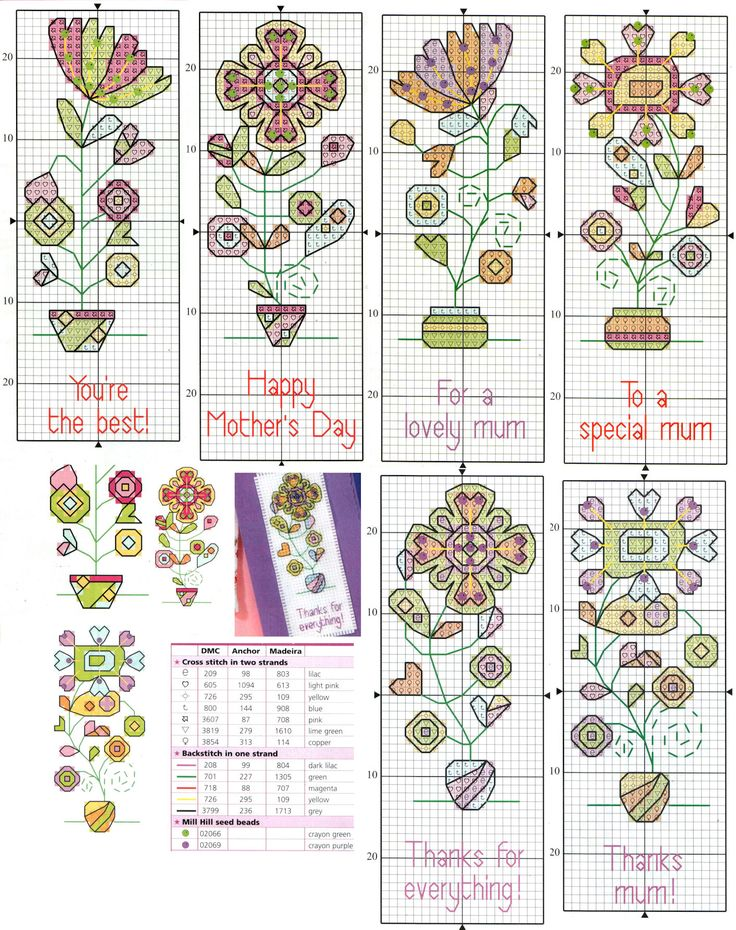 Gráficos de marcadores de livros. Cross stitch bookmarks patterns