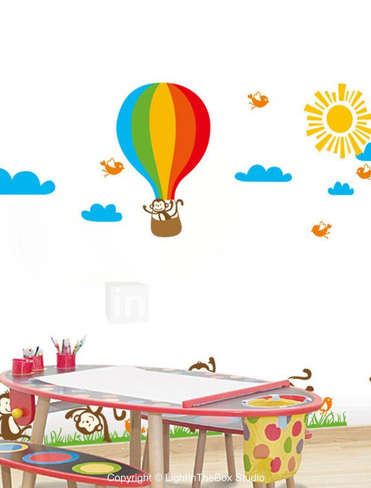 vegg klistremerker Veggdekor, stil ape ballong pvc vegg klistremerker 2620109 2017 – $8.99