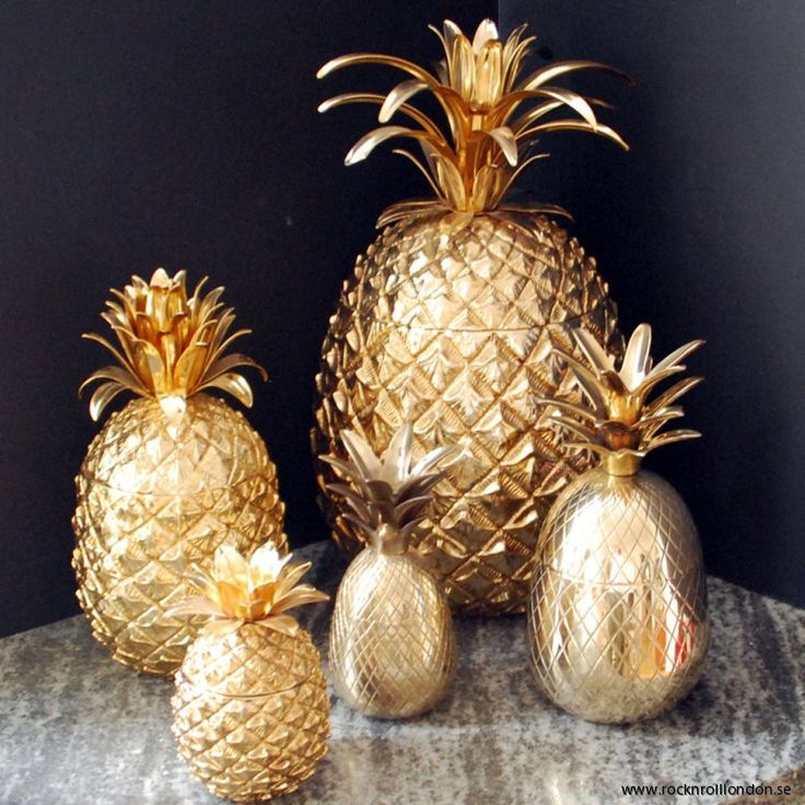Gold Pineapple Jars & Ice Buckets.