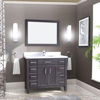 Studio Bathe – Calais 42 in. French Grey Vanity with Mirror