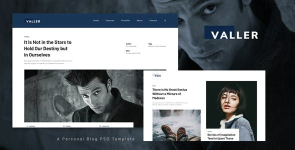Valler Personal Blog Psd Template Nulled Free Download Psd Templates Psd Template Free Blog Template