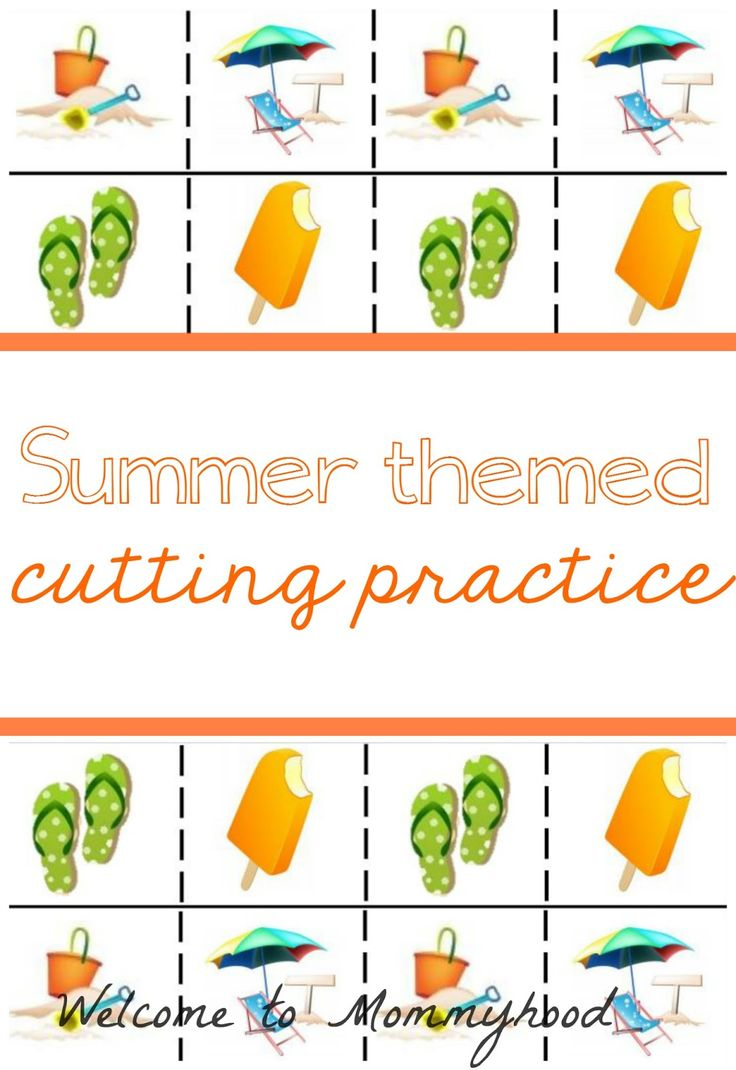 Free Montessori Printables: Summer Cutting Practice by Welcome to Mommyhood  #montessori, #toddleractivities