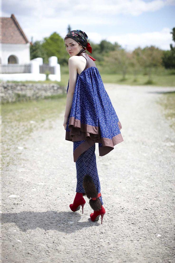 Piroshka fashion label from Berlin_Budapest folklore fashion - ethno fashion, traditional costume, hungarian costume, blue dye, indigo https://www.facebook.com