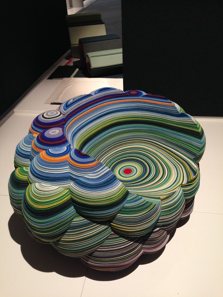Kvadrat Divina exhibition. Layers Cloud Chair by Richard Hutten. Milan Design Week 2014. Spotted by @missdesignsays
