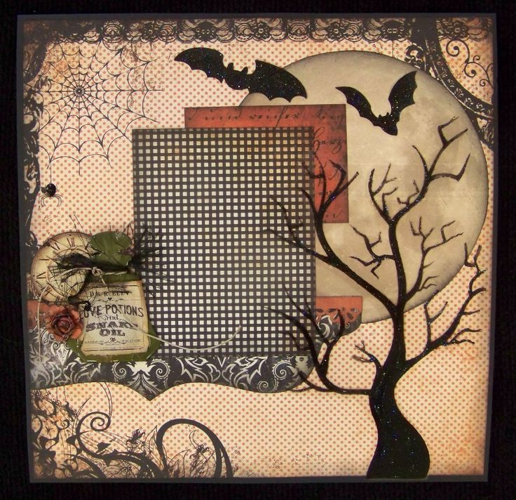 Another fabulous Halloween page! Scrapbook Alley, Harrah, OK.