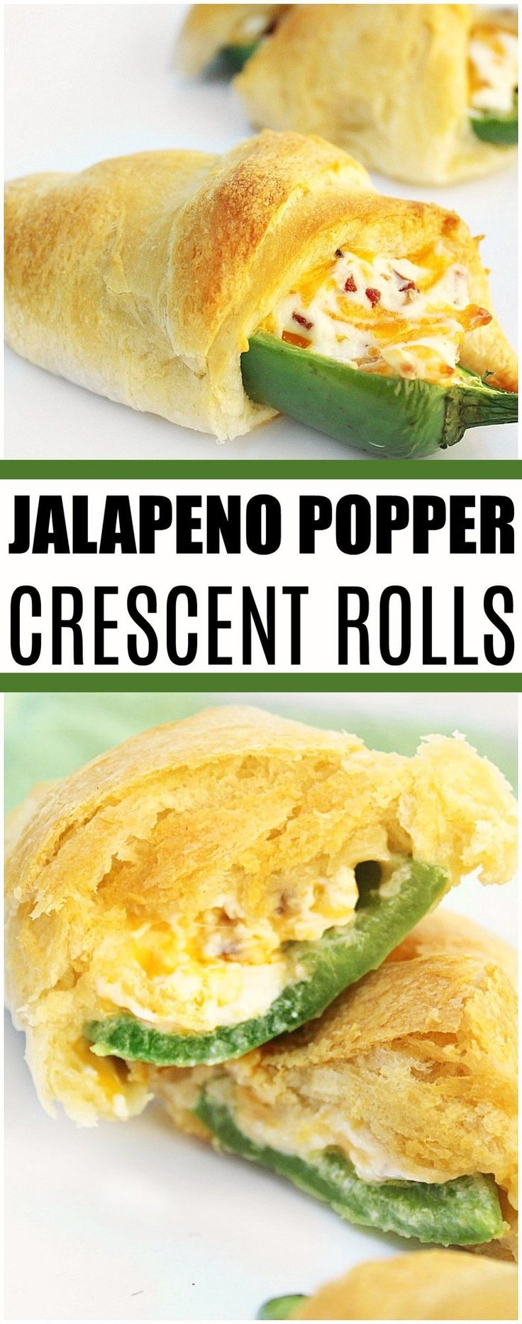 Create these simple jalapeno popper crescent rolls to serve up at any party, game day or as a simple snack! #gameday #appetizer #jalapenopoppers