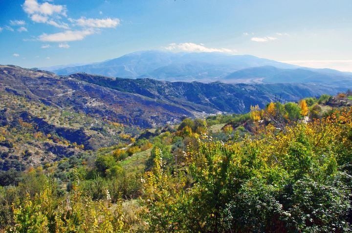 Another photo taken in the Alpujarras - the valley of the Río de Paterna del Río. The Sierra de Gádor and the valley of Laujar de Andarax are in the background. photo by Antonio López Martínez Vive Alpujarra