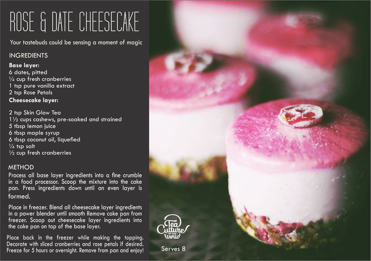 When delicate rose and the robust dates could melt in the mouth with some tea flavoured cream, your tastebuds could be sensing a moment of magic! Rose and Date Cheesecake.