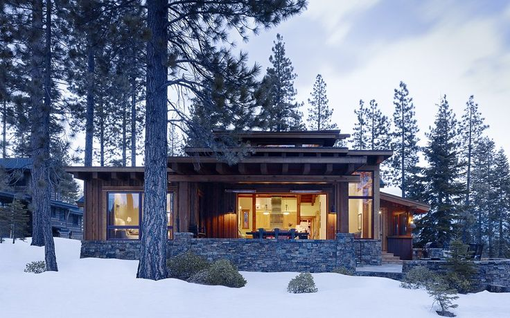 A small cabin in Truckee, California. Photos by Matthew Millman. Designed by Jeffers Design Group.
