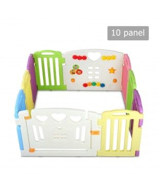 Interactive Baby Playpen - 10 Panels