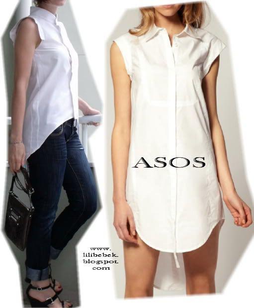 Kısa uzun elbiseler moda iken bu fikri gömleklerde de görmeye başladık. ASOS 'ta bu gömleği görür görmez bu fikre bayıldım ve hemen eşi...