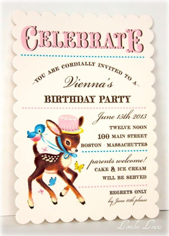 birthday party or baby shower invitation