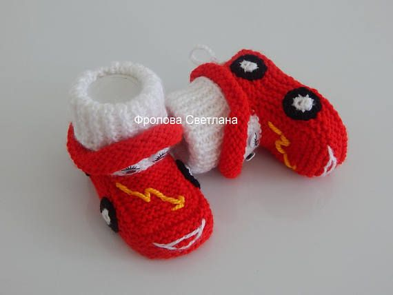 Booties machineBaby style booties Baby knitting shoes