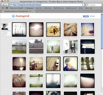 Instagrid | A Clean Web Gallery for Your Instagram Photos - publish a nice gallery so you can view and share your photos on the web. You can even invite people who don't use Instagram to subscribe to your feed via email.