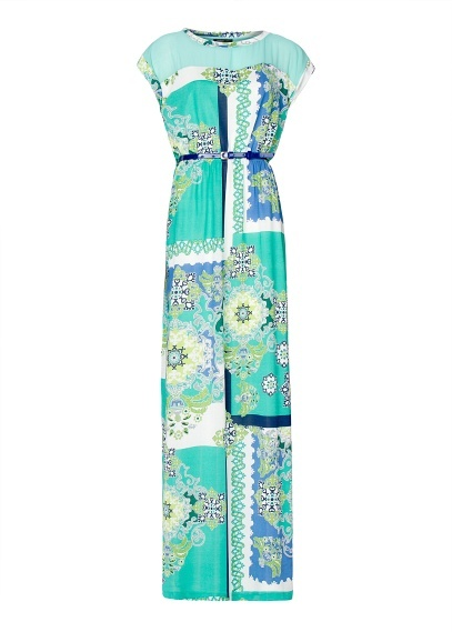 MANGO+-+Vestido+largo+estampado+pañuelo