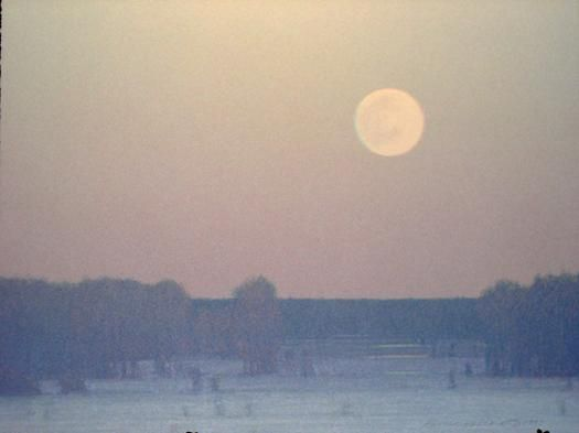 Pale Winter Moonrise by Russell Chatham.
