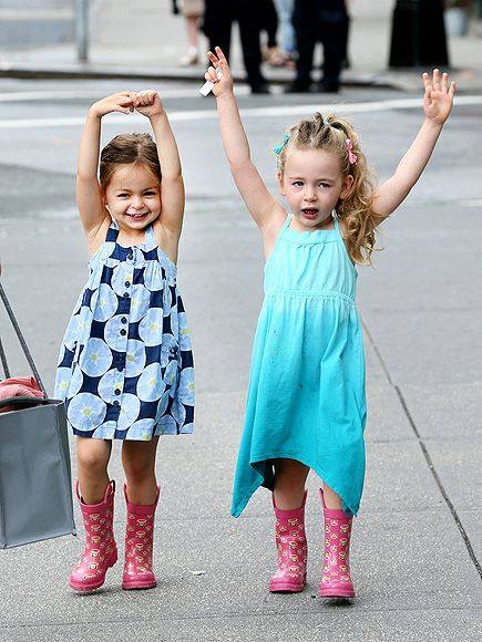 Tabitha and Loretta Broderick - cutest mini fashionistas ever