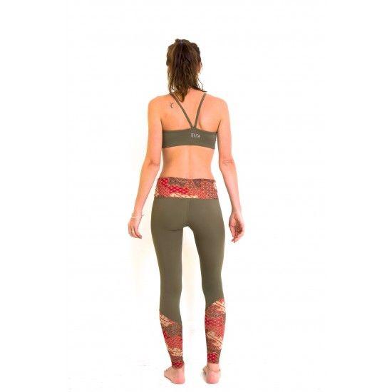 TEVITA OM CONTRAST PRINT SPORTS BRA - khakiyoga / fitness / sportswear / activewear / pilates / health / boho / tevita / tevitalifestyle / lifestyle / gym / print / pattern