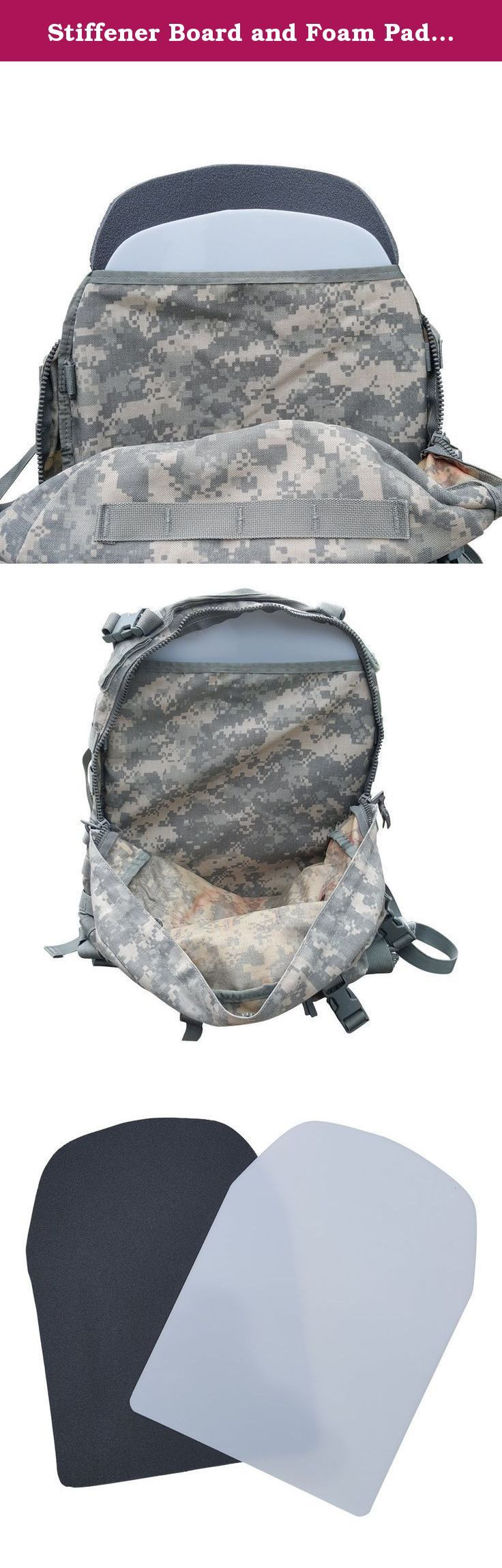Stiffener Board and Foam Pad for ACU/DCU/Woodland Camo/Multi Cam 3 Day Assault Pack (Foam Pad and Stiffener Board). This product offers the only solution to an uncomfortable experience with the military grade ACU 3 Day Assault Pack. Move comfortably with the Foam Pad and Back Stiffener, developed for a perfect fit in an ACU 3 Day Assault Pack, ensuring the most ergonomic wear possible. Simply place this product on the inside rear pocket panel of the pack and notice immediate relief. The...