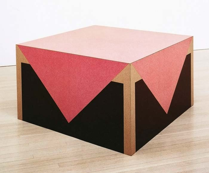 Richard Artschwager, Table with Pink Tablecloth, Formica on wood