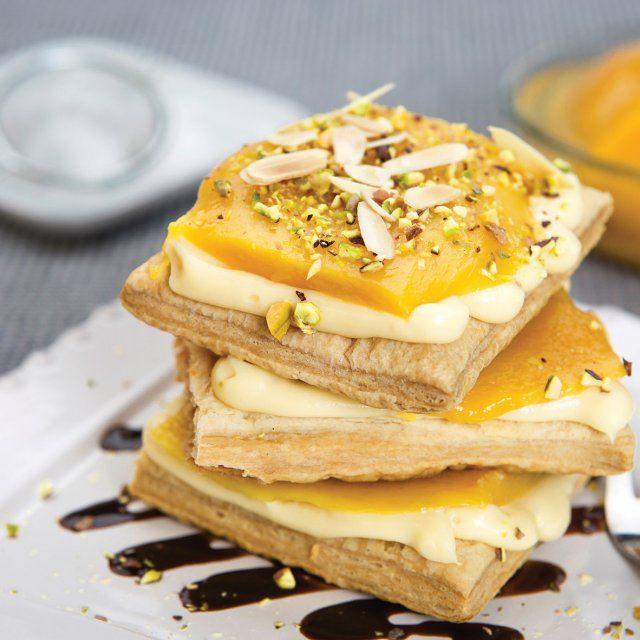 Mil Hojas de Crema y Mango