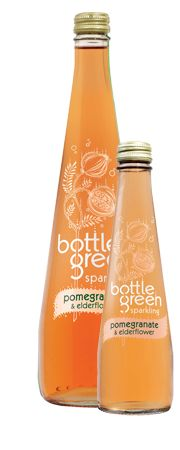 Bottled Green Pomegranate & Elderflower Sparkling pressé: available at Denningers :)