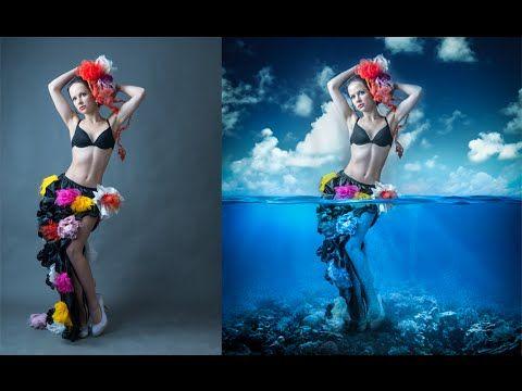 Photoshop Manipulation Tutorials Photo Effects | Underwater Girl - YouTube