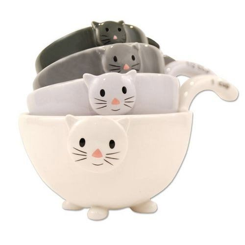 Cute cat measurement cups #housewarming #gift