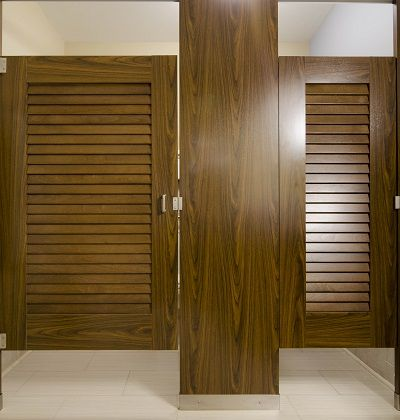 17 best images about louvered toilet partitions on for Louvered bathroom stall doors