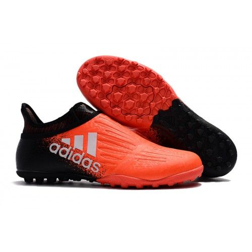 Nyeste Adidas X Tango 16 Purechaos TF Fotballsko Oransje Svart