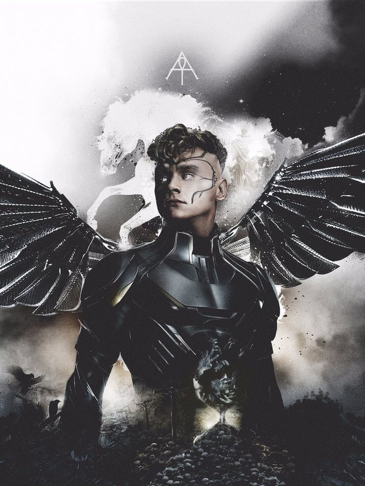 Ben Hardy as Angel in X-Men: Apocalypse