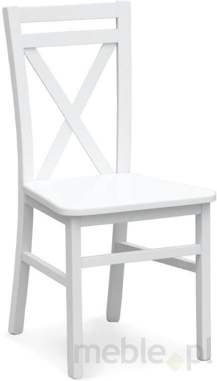 169 Drewniane krzesło DARIUSZ 2 białe, Halmar - Meble