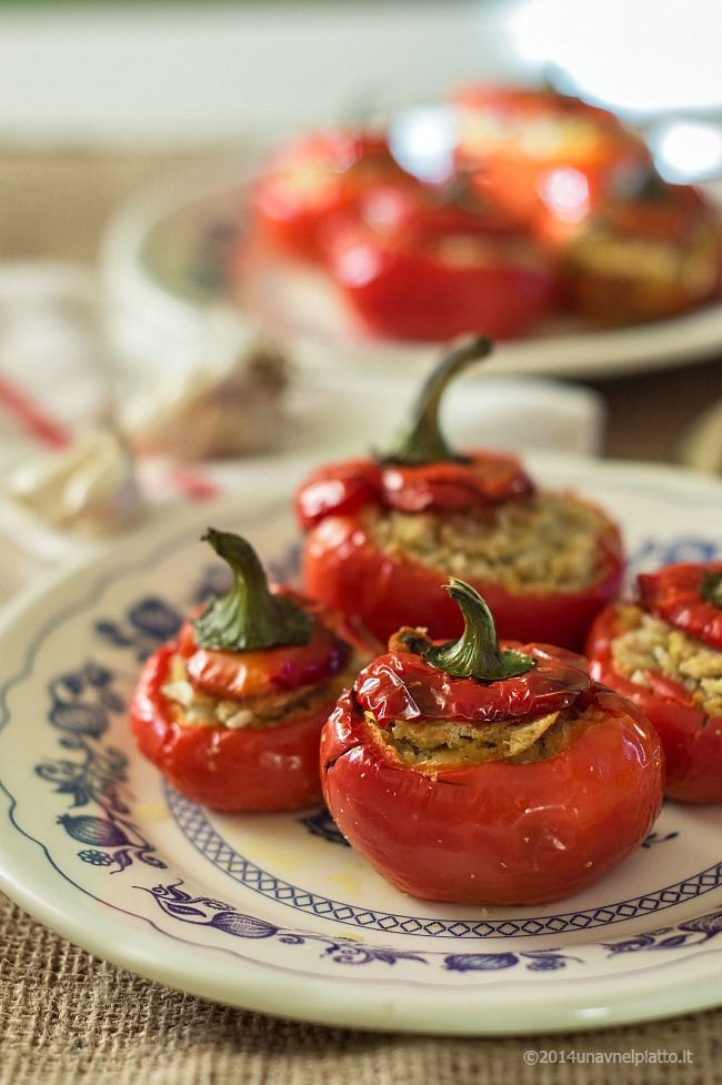 Vegan peppers stuffed