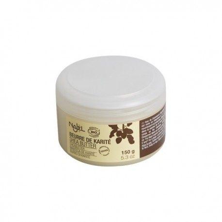 Unt de shea organic Najel-150 g Untul de shea este hidratant, protector solar, accelerează cicatrizarea, calmează pielea iritată, combate ridurile şi semnele de îmbătrânire, ajută in combaterea vergeturilor, dermatitelor si revitalizarea părului deteriorat