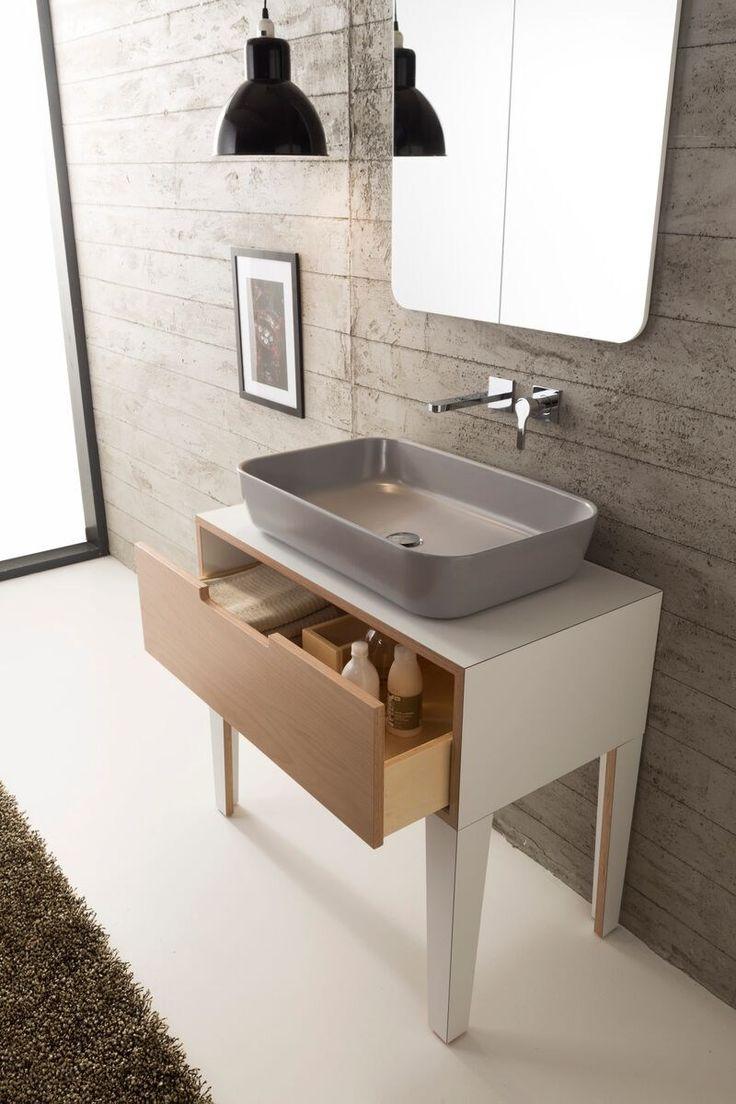 Vanity unit with drawers mizu by scarabeoceramic - Designer vanity units for bathroom ...